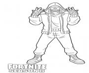 Printable Mezmer from Fortnite Season 8 coloring pages