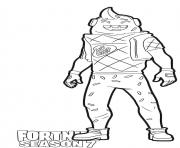 Printable Lil Whip from Fortnite season 10 coloring pages