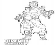 Printable Prisoner skin from Fortnite Season 7 coloring pages