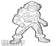 Printable Zenith skin from Fortnite Season 7 coloring pages