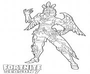 Printable Ravage skin from Fortnite Season 7 coloring pages
