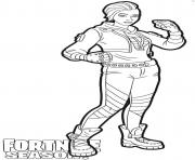 Printable Shade skin from Fortnite coloring pages