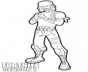 Printable Yuletide Ranger skin from Fortnite coloring pages