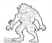 Printable Dire Wolf skin from Fortnite season 6 coloring pages