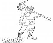 Printable Renegade Raider skin from Fortnite Season 1 coloring pages