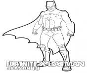 Printable Fortnite x Batman season 10 coloring pages