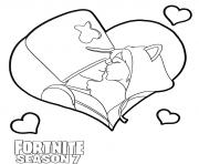 Printable Just a Kiss Fortnite Marshmello kiss coloring pages
