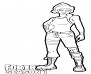 Printable Nog Ops skin from Fortnite Season 1 coloring pages