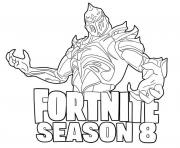 Printable Ruin and Season 8 logo Fortnite coloring pages