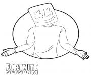 Printable Marshmello skin from Fortnite Season M coloring pages