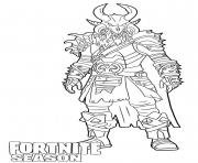 Printable Ragnarok skin from Fortnite coloring pages