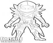 Printable Raven Fortnite Season 3 coloring pages