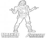 Printable Starlord Fortnite Avengers Endgame coloring pages