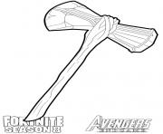 Printable stormbreaker from Fortnite and Avengers coloring pages