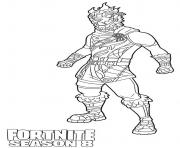 Printable Molten Battle Hound from Fortnite Season 8 coloring pages