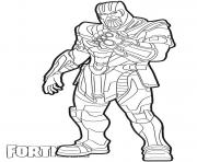 Printable Thanos skin from Fortnite coloring pages
