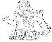 Printable Vendetta skin from Fortnite Season 9 coloring pages