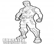 Printable Dark Jonesy skin from Fortnite season 10 coloring pages
