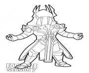 Printable Ice King skin from Fortnite Season 7 coloring pages