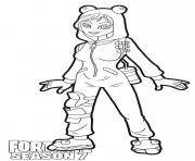 Printable Onesie skin from Fortnite Season 7 coloring pages