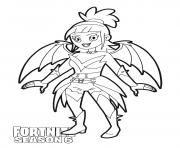 Printable Dusk skin from Fortnite Season 6 coloring pages