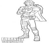 Printable Visitor skin from Fortnite Season 4 coloring pages