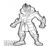 Printable Snowfoot skin from Fortnite Season 7 coloring pages