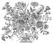 complex flower vase 1740 mural tile coloring pages