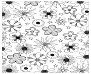 flowers adult by mpc design coloring pages