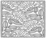 four big flowers coloring pages