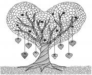 discover heart tree adults coloring pages