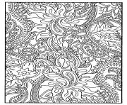 Flowers and harmonious Paisley patterns coloring pages