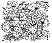 adult flowers paisley coloring pages