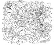 flowers adulte difficult complex coloring pages
