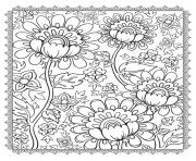 magnificient flowers coloring pages