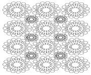 adult circles flowers coloring pages