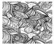abstract elegant pattern adult flowers dark coloring pages