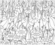 adult elanise art flowers coloring pages