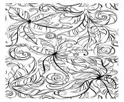 pretty leaves flowers for adult coloring pages