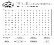 Word search Halloween