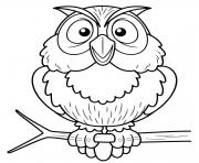 Printable hoot owl coloring pages