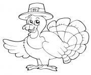 Printable pilgrim turkey thanksgiving coloring pages