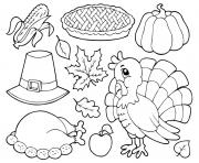 Printable thanksgiving table kids coloring pages