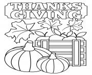 Printable Thanksgiving Leaves and Pumpkins coloring pages