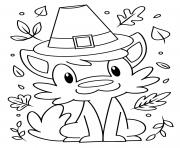 Printable Thanksgiving A Furry Friend coloring pages