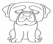 Printable Dog Hagrid coloring pages