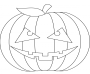 Printable scary pumpkin coloring pages