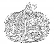 Printable halloween pumpkin zentangle adult coloring pages