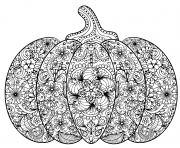 pumpkin illustration hand drawn vegetable in zentangle style tribal totem for tattoo adult