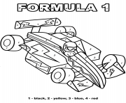 formula 1 color by number